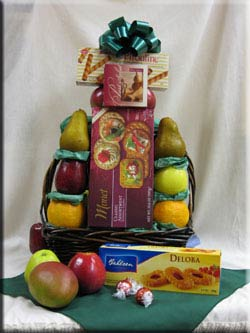 Fruit Baskets are hand delivered by Aiellos Fruit Baskets as gifts, to the hospital, and more !